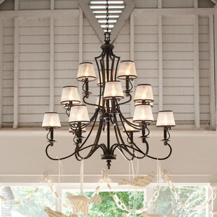 Alcott Hill Kenny 15-Light Shaded Chandelier