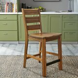 Zahra Solid Wood 24 Counter Stool by Millwood Pines