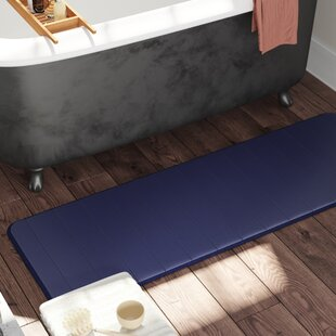 Leone Stitch Memory Foam Bath Rug