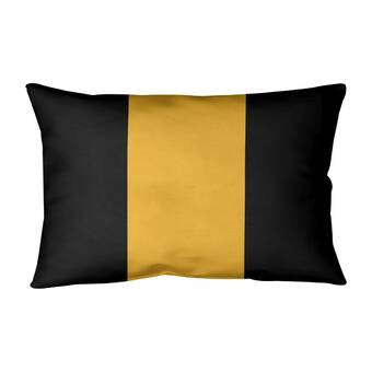 East Urban Home Washington Basketball Linen Striped Lumbar Pillow Wayfair