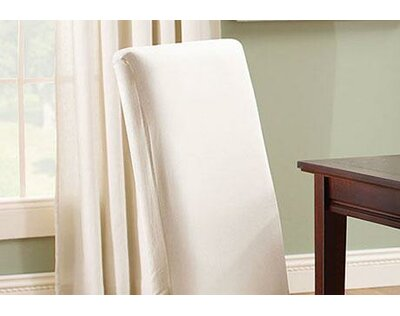 Dining Table Chair Slipcovers cotton duck full length dining room chair slipcover | joss & main
