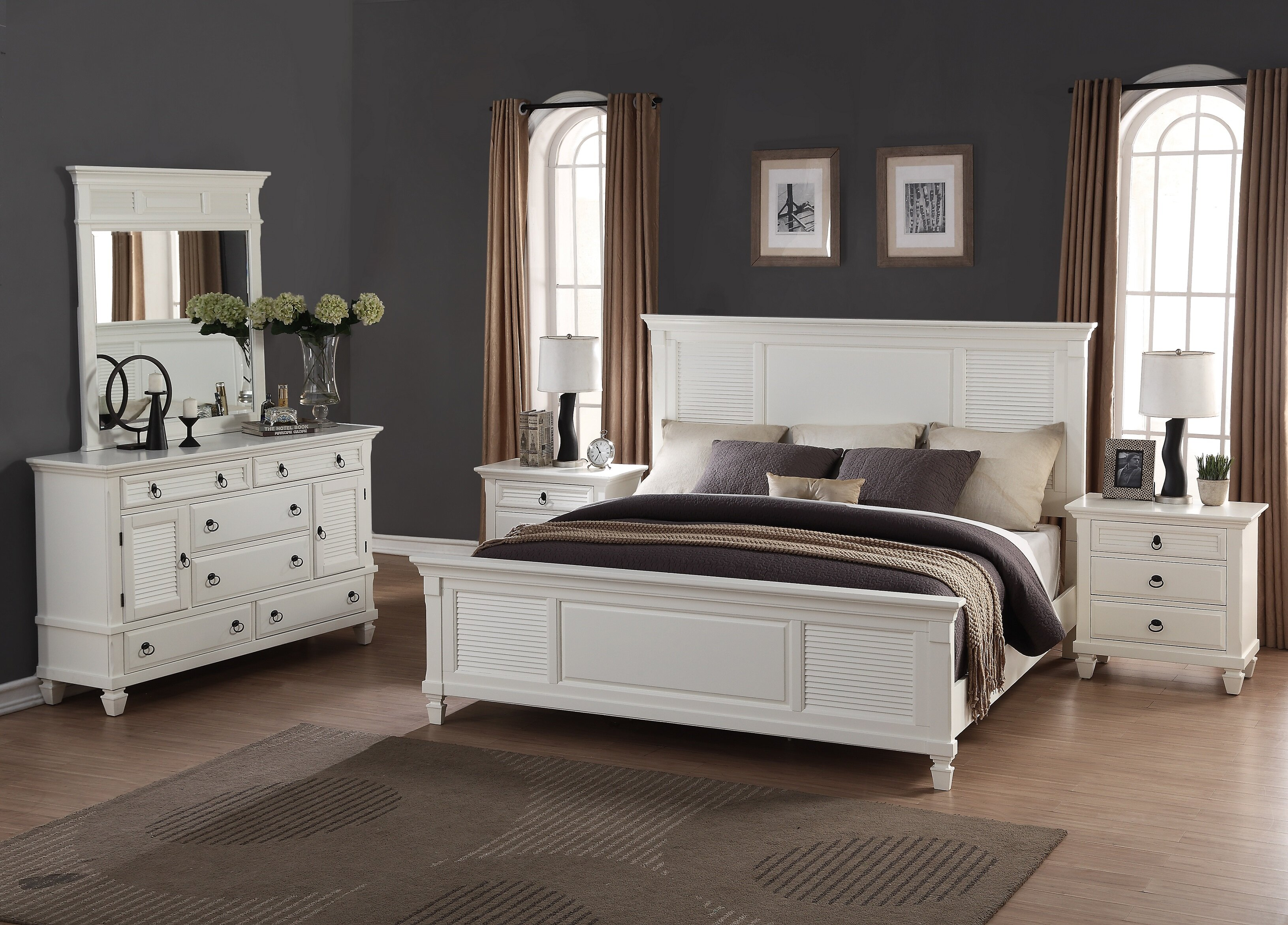 Great Roundhill Furniture Regitina King Platform 5 Piece Bedroom Set | Wayfair
