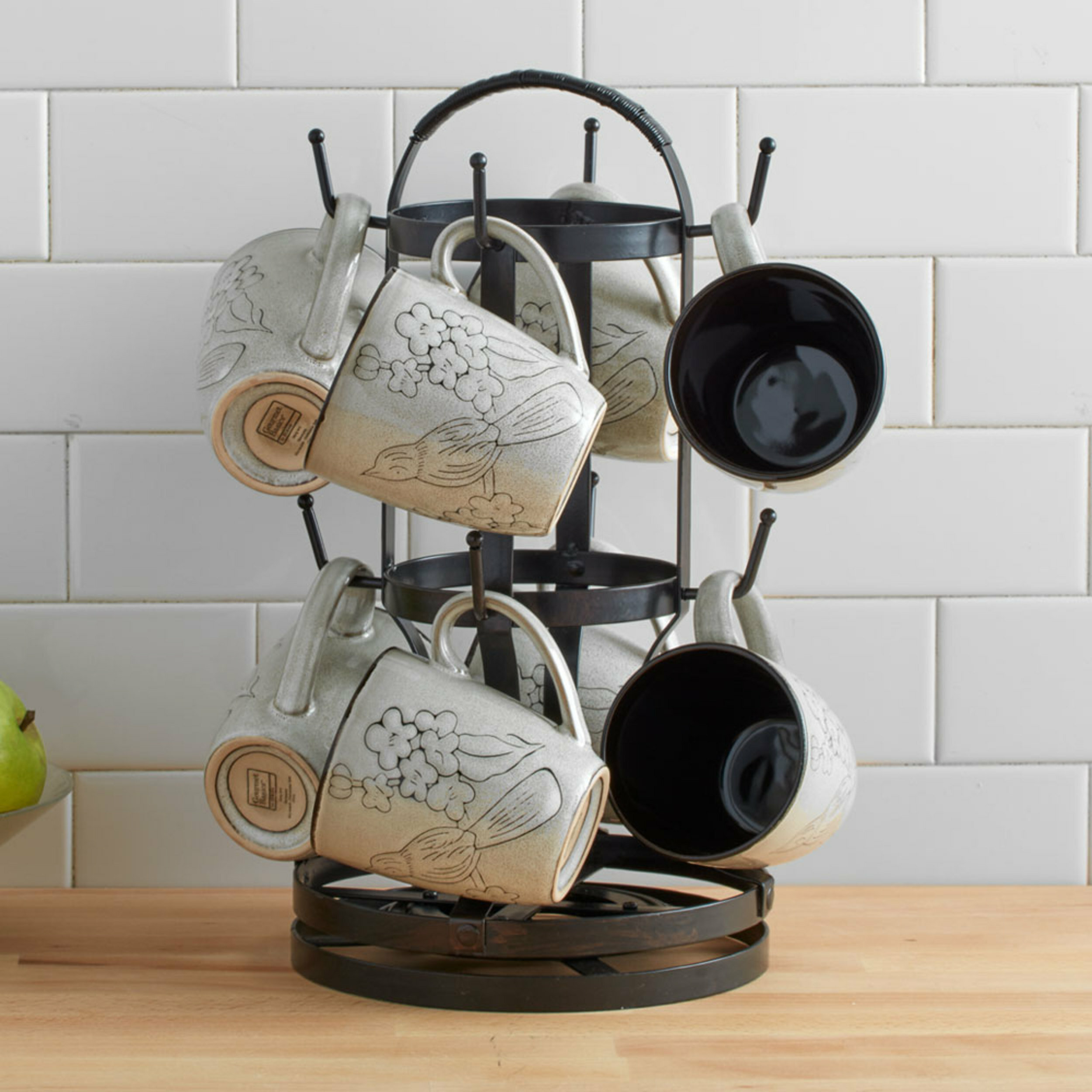 Gourmet Basics By Mikasa Rotating Mug Tree Reviews Wayfair