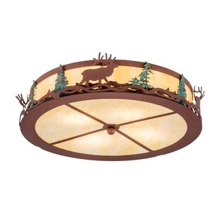 Millwood Pines Everill 4-Light Flush Mount