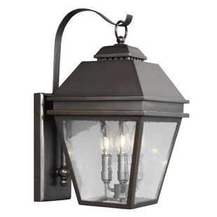 Three Posts Daughtrey 3-Light Outdoor Wall Lantern