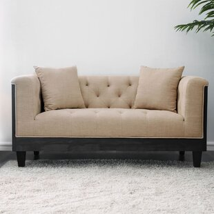 Yasmina Wooden Loveseat