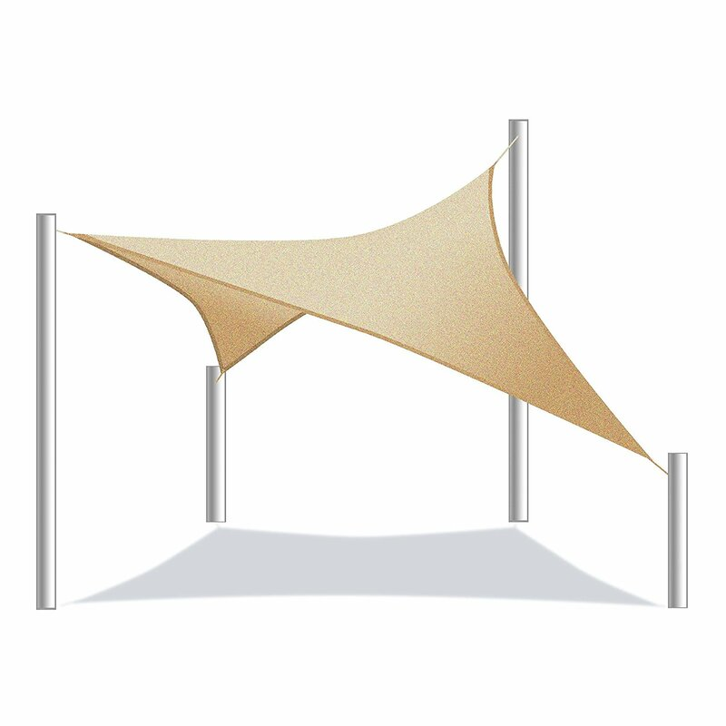 ALEKO 13 x 10 Rectangle Shade Sail  Color: Sand