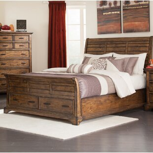 Clemmer Solid Wood Low Profile Storage Sleigh Bed