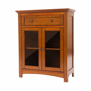 Affordable Wooden Shelved Floor 1 Drawer Accent Cabinet ByGlitzhome