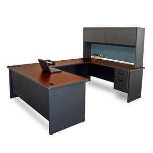 Crivello U-Shape Executive Desk With Hutch by Red Barrel Studio #2