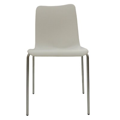 B&T Design Leo Side Chair Finish: White