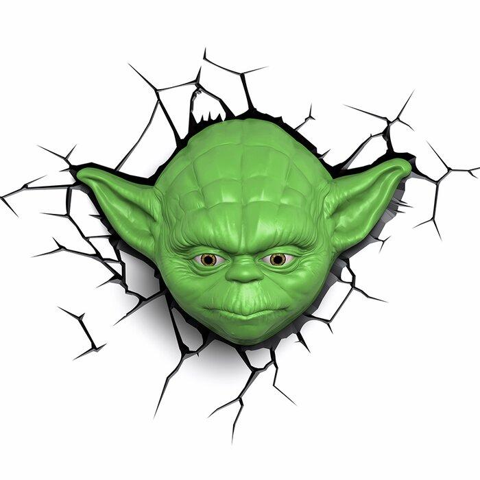3d Ep 7 Star Wars Yoda Face Deco 5 Light Night Light