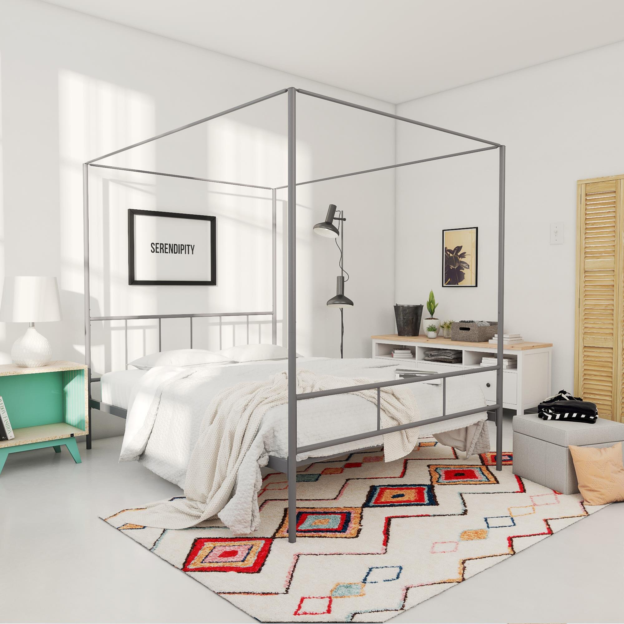 Canopy Metal Beds You Ll Love In 2021 Wayfair