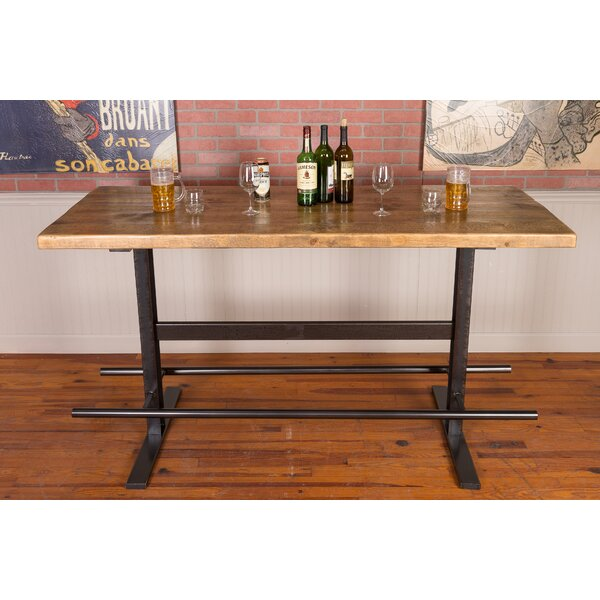 Napa East Collection Industrial Iron And Reclaimed Wood Pub Table U0026 Reviews  | Wayfair