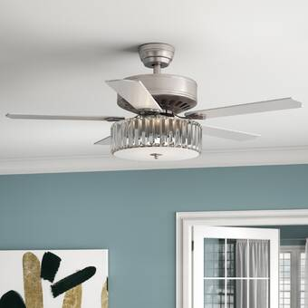 17 Stories 16 Odalys 3 Blade Ceiling Fan With Wall Control And Light Kit Included Wayfair