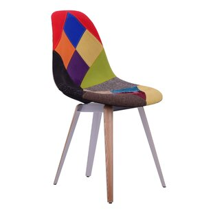 Virgie Slice Patchwork Upholstered Dining Chair