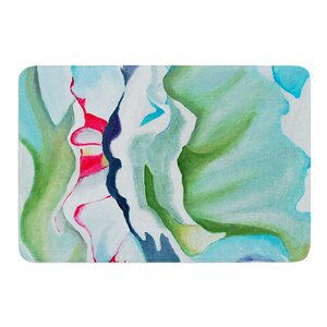 Peony Shadows by Cathy Rodgers Bath Mat