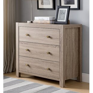 Ryalson Wooden Utility Storage 3 Drawer Dresser