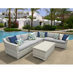 Rosecliff Heights Ansonia 7 Piece Sectional Set with Cushions