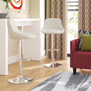 Acamar Adjustable Height Swivel Bar Stool (Set of 2)