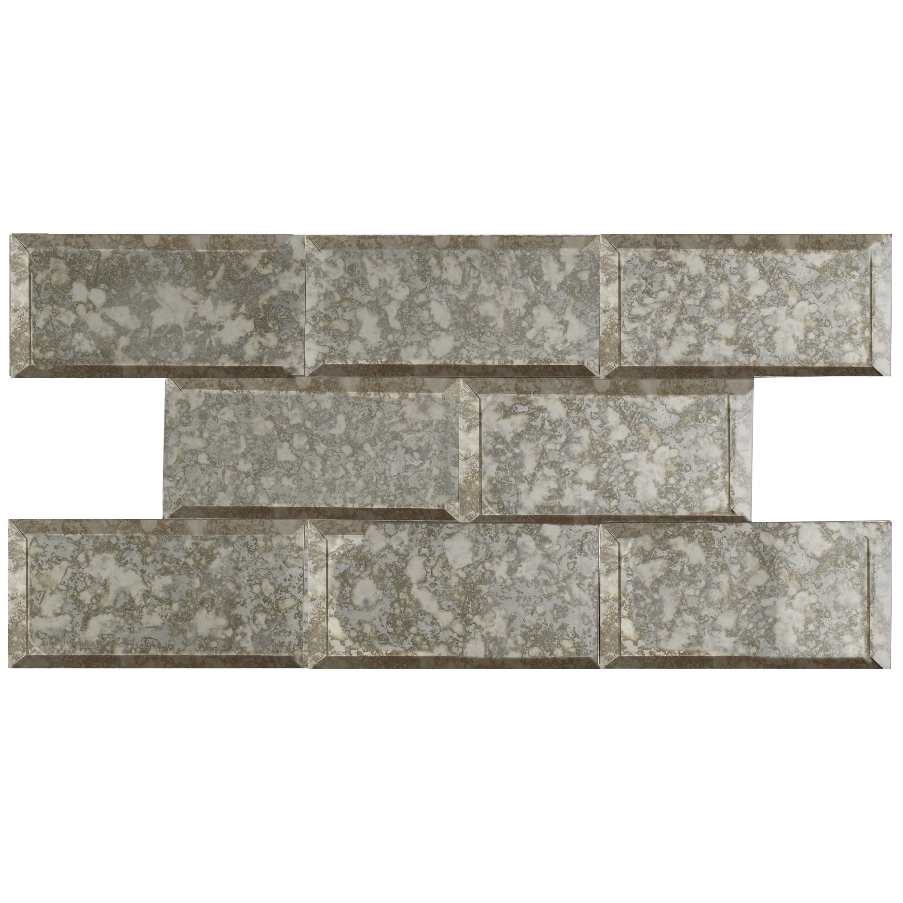 Elitetile lumin 3 x 6 glass subway tile in antique mirror elitetile lumin 3 x 6 glass subway tile in antique mirror reviews wayfair dailygadgetfo Image collections