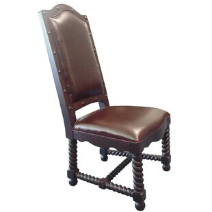 Cullens Genuine Leather Upholstered Dining Chair by Fleur De Lis Living