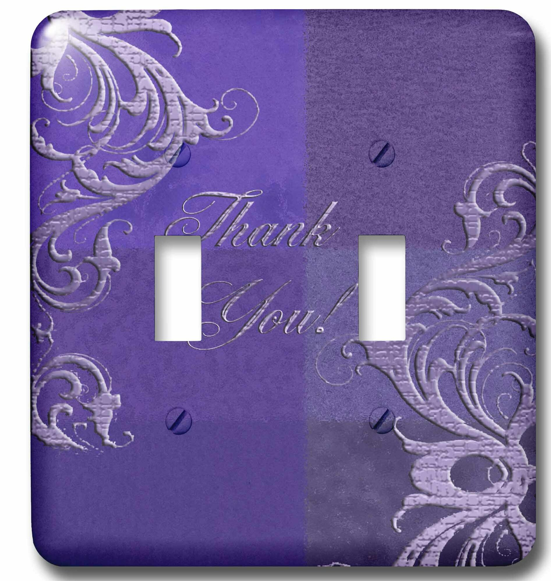 3drose Elegant Vines Thank You 2 Gang Toggle Light Switch Wall Plate Wayfair