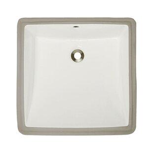 Savings Vitreous China Rectangular Undermount Bathroom Sink with Overflow ByMR Direct