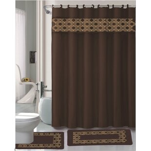Best Reviews Gabrielle 15 Piece Shower Curtain Set ByKashi Home
