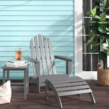 Willia Plastic Folding Adirondack Chair with Ottoman and Table