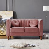 Stills Velvet 67 Wide Square Arm Loveseat by House of Hampton®