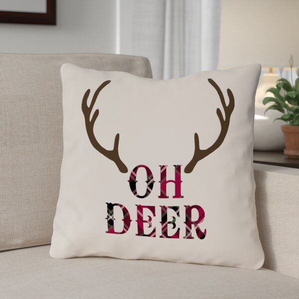 Peachy Deer Antler Pillow Wayfair Inzonedesignstudio Interior Chair Design Inzonedesignstudiocom