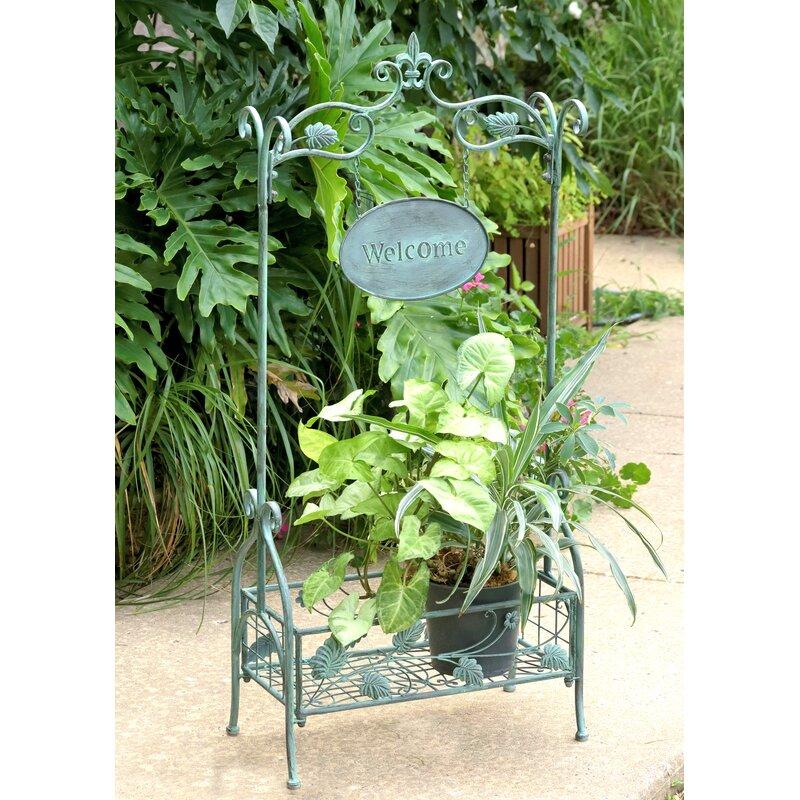 Zaerltdinternational Arch And Welcome Sign Rectangular Planter Stand