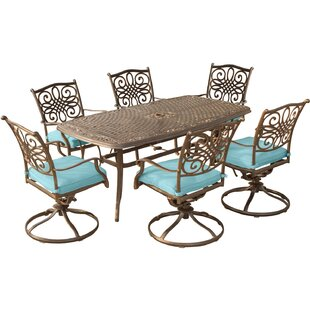 Three Posts Lauritsen 7 Piece Dining Set with Cushion