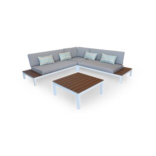 Nelson Outdoor Furniture Modern Patio Sofa with Cushions by Kardiel