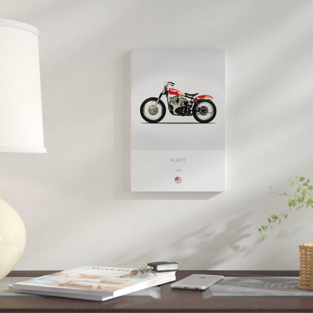 East Urban Home \'1964 Harley-Davidson XLR-TT Motorcycle\' Graphic Art ...