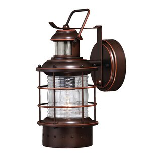 Best Reviews Griffin Modern 1-Light Outdoor Wall Lantern By Longshore Tides