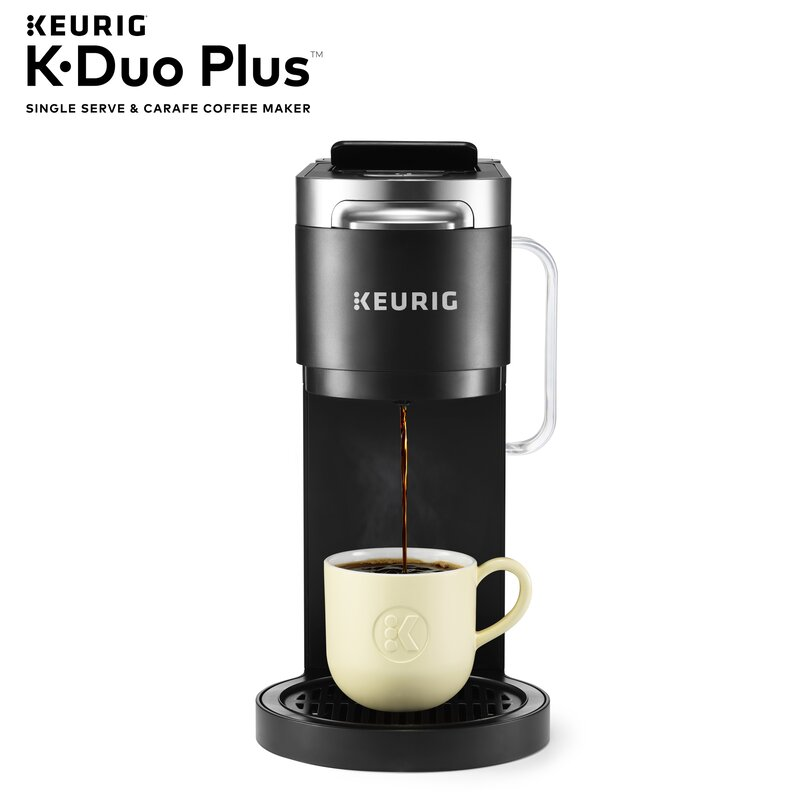 Keurig K Duo Plus Coffee Maker With Single Serve K Cup Pod And 12 Cup Carafe Brewer Reviews Wayfair