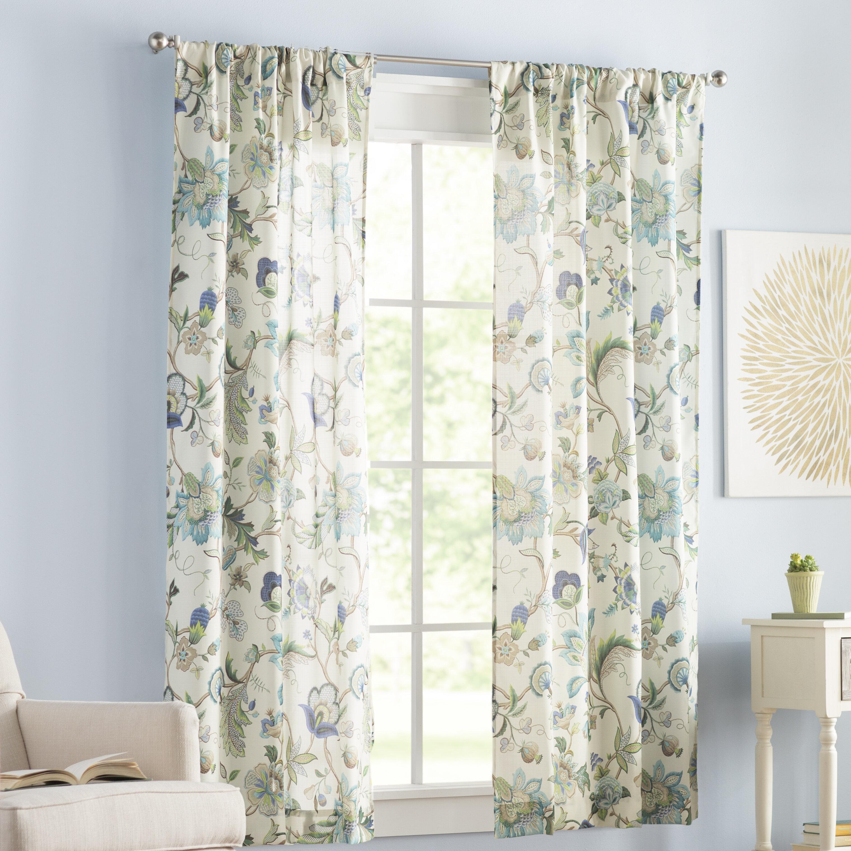 Three Posts Tuckerman Floral Room Darkening Rod Pocket Curtain Panels Reviews Wayfair