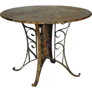 Eustace Round Outdoor Metal Chat Table