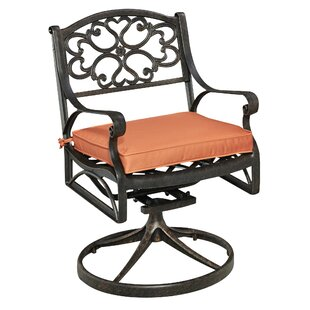 Six Swivel Patio Dining Chair with Cushion