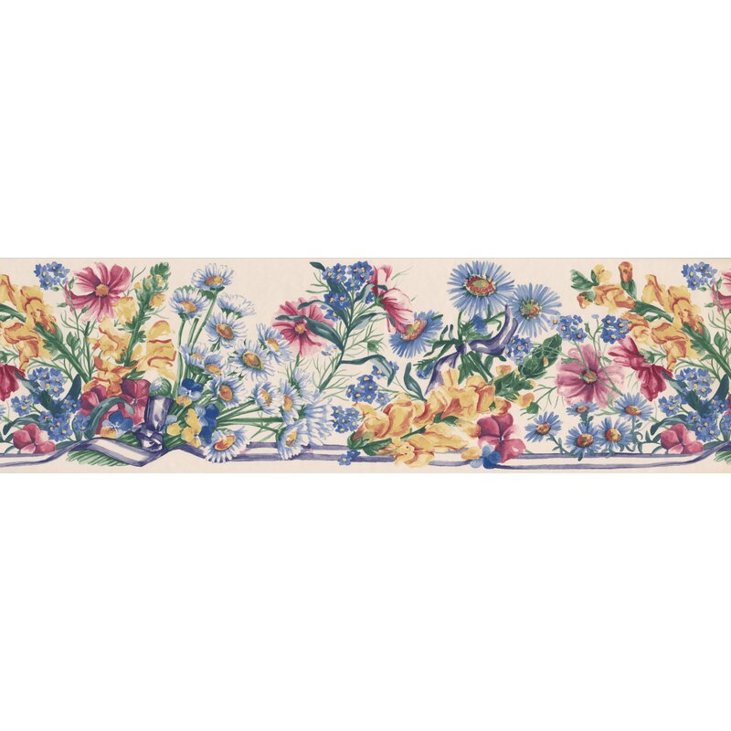 Bever Flowers Country Retro Design 15' L x 7'' W Floral and botanical