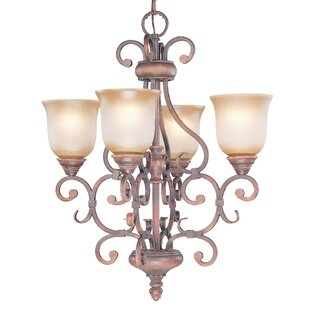 Classic Lighting Eagle Pointe 4-Light Shaded Chandelier