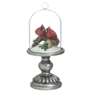 Glass And Polystone Cardinal LED Cloche