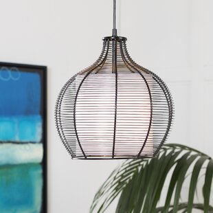 Bay Isle Home Richey Transitional 1-Light Dome Pendant