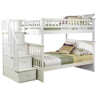 Harriet Bee Abel Staircase Full Over Full Bunk Bed