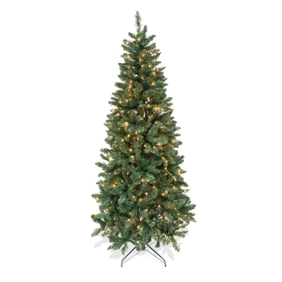 7\' Green Douglas Fir Artificial Christmas Tree with 300 Clear Lights ...