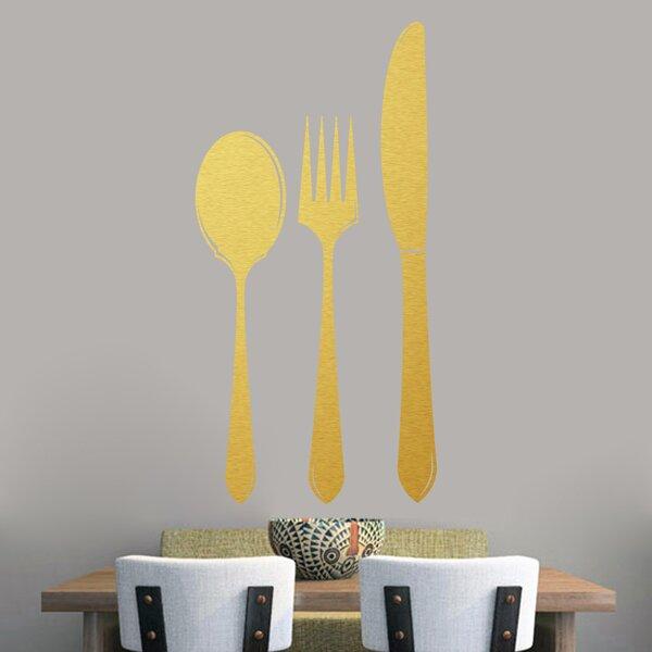 Gold Fork Spoon And Knife Set | Wayfair