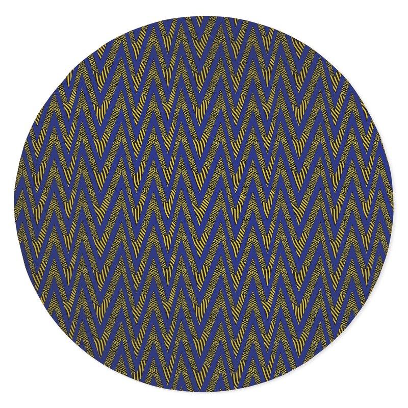 Ebern Designs Aana Low Pile Carpet Straight Round Chair Mat Wayfair