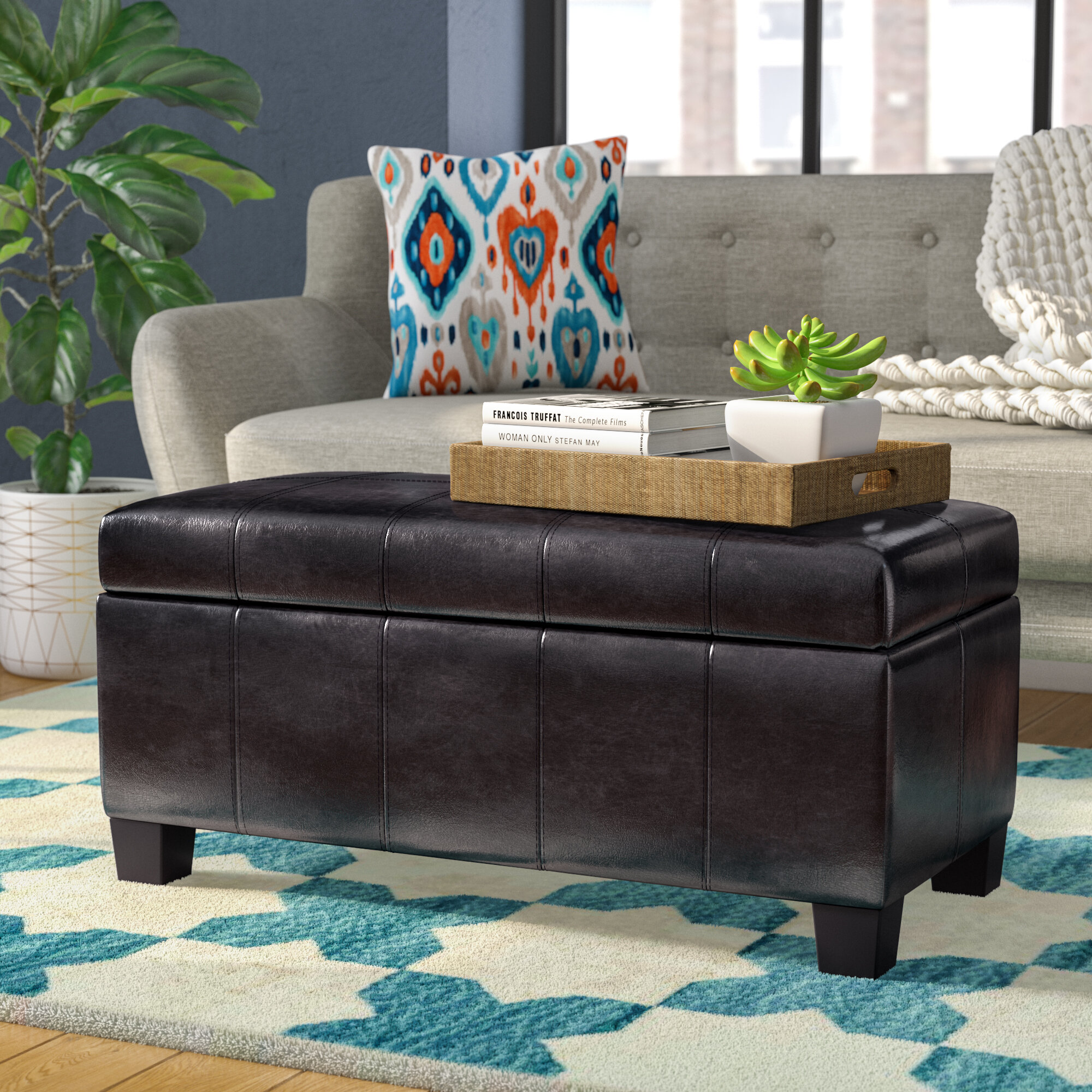 Remarkable Latitude Run Ogallala Upholstered Storage Bench Reviews Machost Co Dining Chair Design Ideas Machostcouk